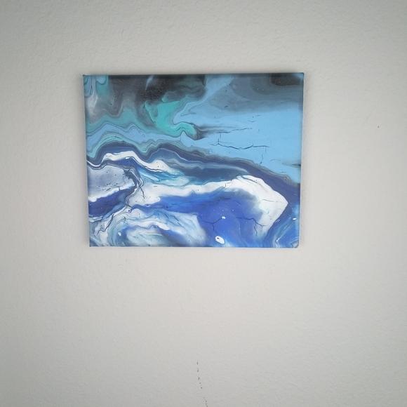 Handmade Other - Acrylic Pour 8 x 10 Canvas